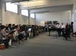 Composer Matt Ottley in rehearsal with the Czech Philharmonic Choir, Brno