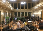 Orchestral recording at Besedni Dum, Brno, Czech Republic
