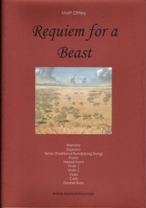 Reqwuiem for a Beast Musical score parts