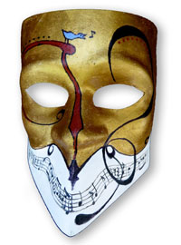 Matt Ottley mask for Isobelle Carmody's Unmasking the Wild Exhibition