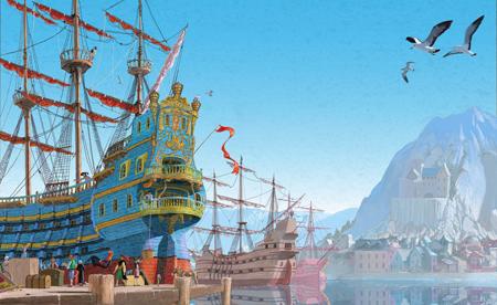 The King's ship digital print by Matt Ottley