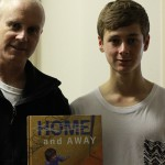 Matt Ottley and Kyle Green working on Home and Away DVD