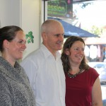 Illustrator Matt Ottley with Heidi's Place Bookstore owners Renae Quirk and Heidi Muddle.
