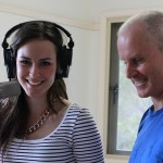 Matt Ottley and Nina Baumer working on Home and Away DVD
