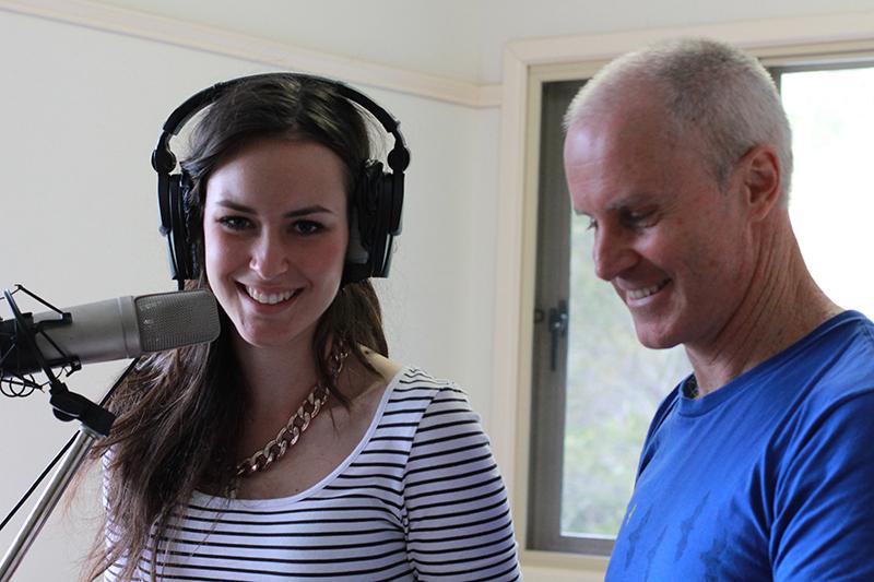 Matt Ottley and Nina Baumer working on Home and Away DVD