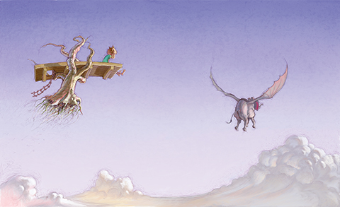 """Limited Edition Print from """"Parachute"""" by Matt Ottley and Danny Parker"""