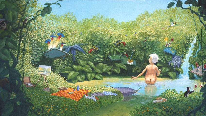 Mrs Millie's Painting - a classic children's picture book, written and illustrated by Matt Ottley