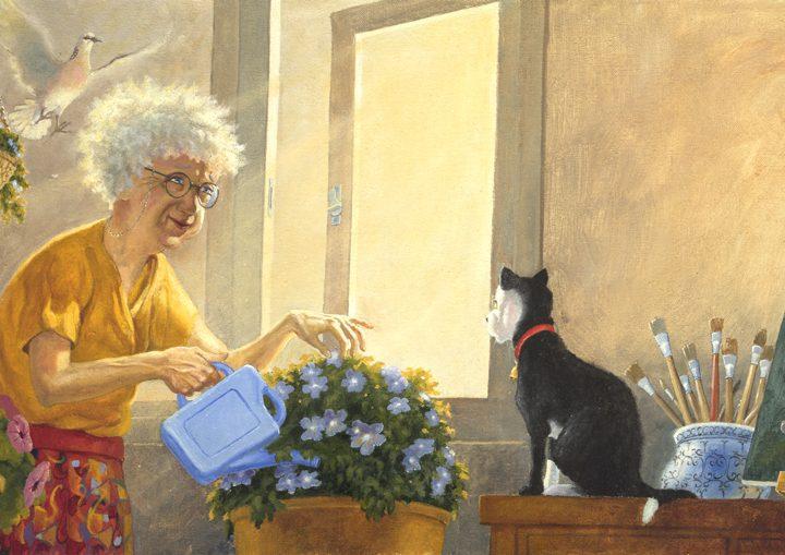 Matt Ottley's oil painting from Mrs Millie's Painting