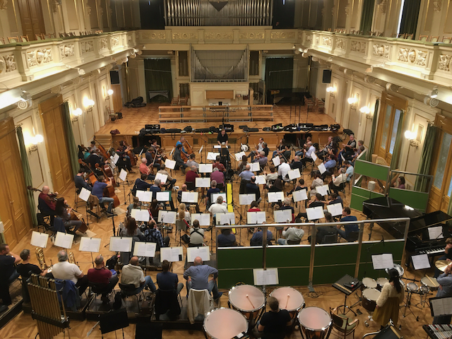 Recording at Besedni Dum with the Brno Philharmonic Orchestra