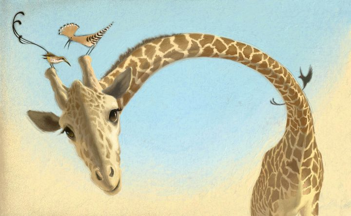 Aunty Giraffe - digital illustration by Matt Ottley