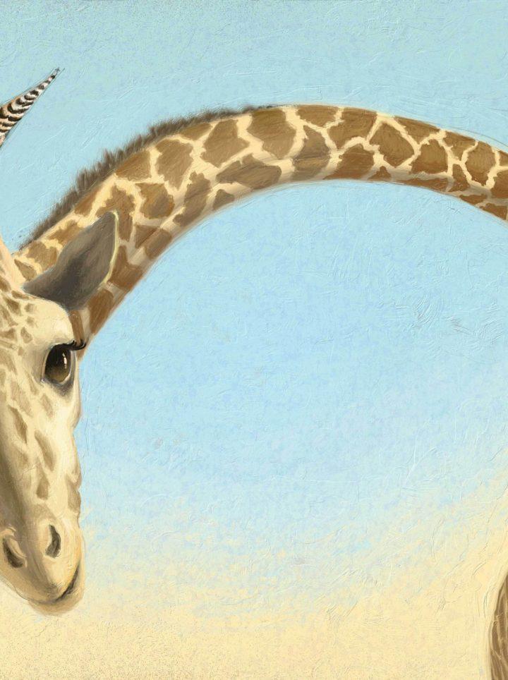 Aunty Giraffe - digital illustration by Matt Ottley