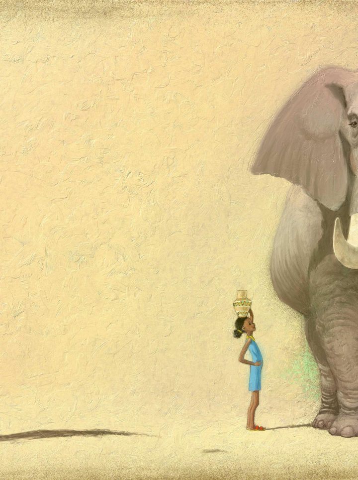 Uncle Elephant - digital illustration by Matt Ottley
