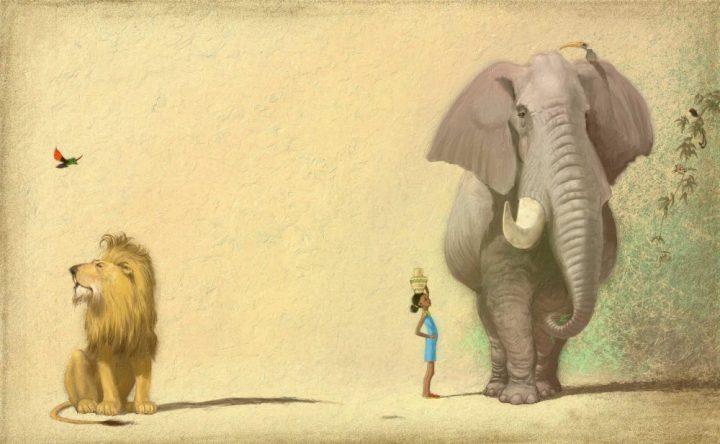 Uncle Elephant - digital illustration by Matt Ottley