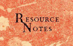 Resource notes by Matt Ottley