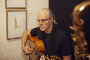 Matt Ottley playing flamenco guitar